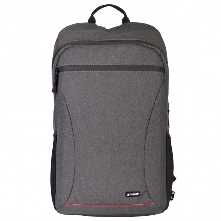 Heather gray backpack with insert and laptop 15 inch slot ABERDEEN 40