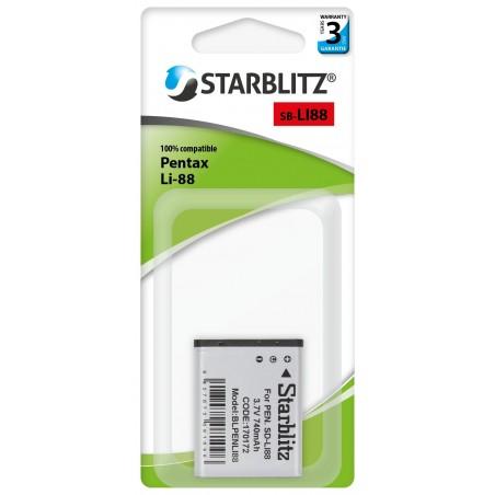 Batterie rechargeable compatible Pentax Li-88 Lithium ion